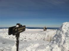On top of windblasted Mount Washington. Isaiah's first Winter Summit!